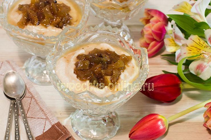 Десерт из творога без выпечки на скорую руку в домашних условиях с яблоками – рецепт с фото пошагово