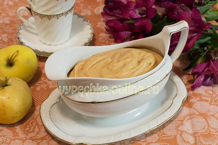 Крем из яблок для торта рецепт с фото пошагово