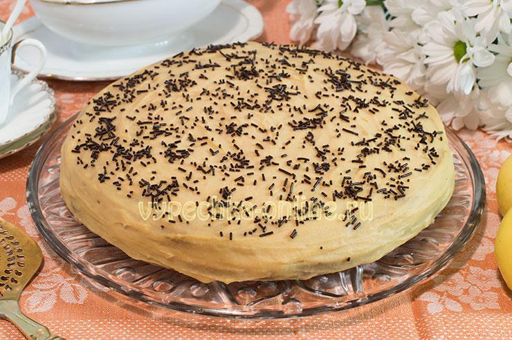 Торт с яблочным курдом