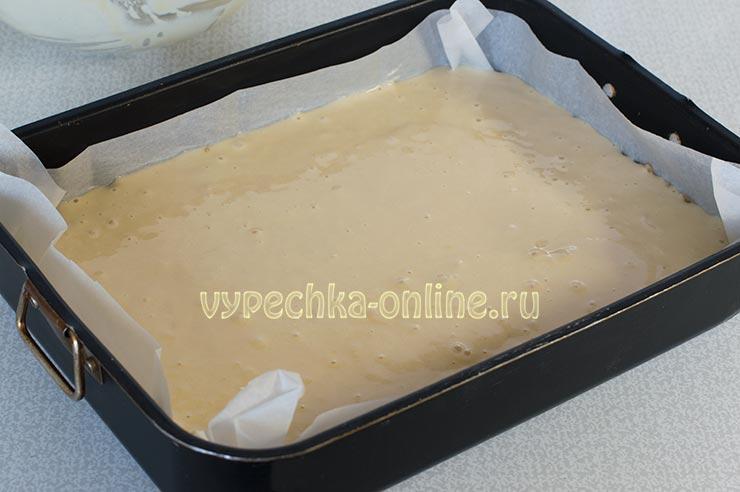 Бисквитный пирог с яблоками рецепт в духовке