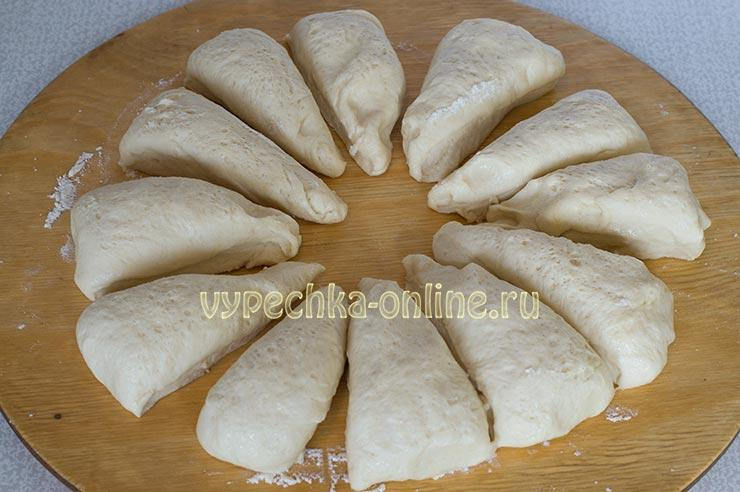 Дрожжевое тесто для булочек на молоке и сухих дрожжах
