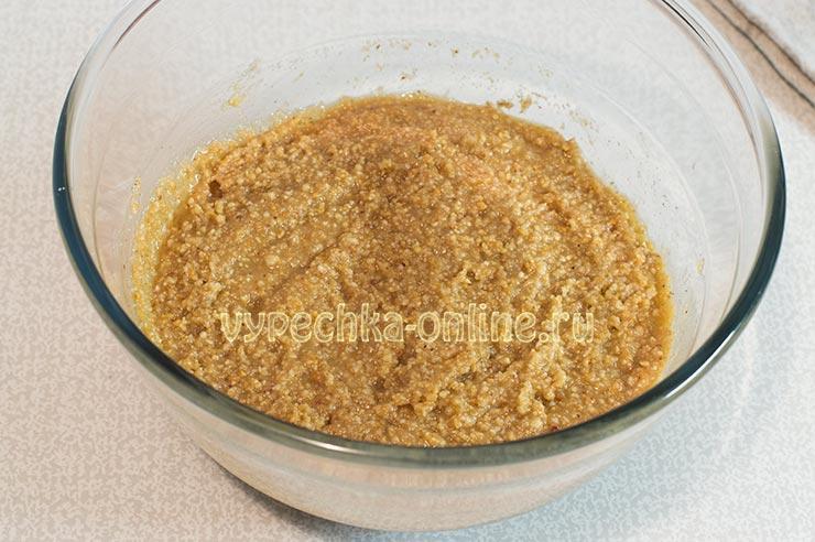 Ореховая начинка для пирога из дрожжевого теста