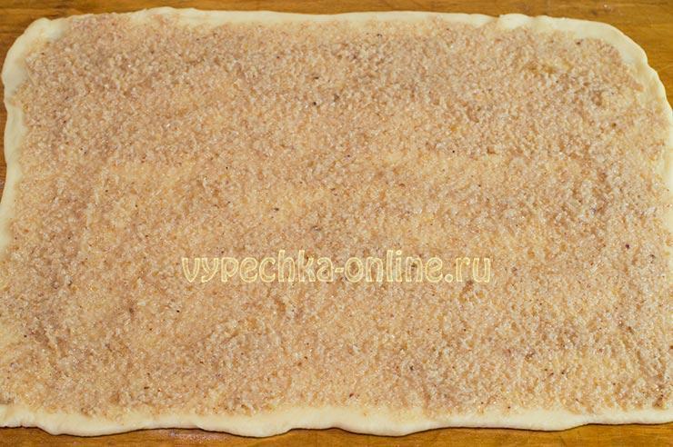 Пирог с ореховой начинкой рецепт с фото
