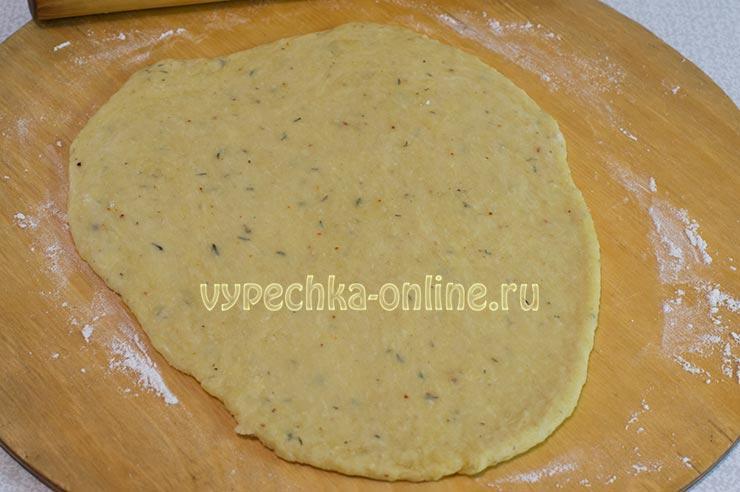 Постное печенье соленое