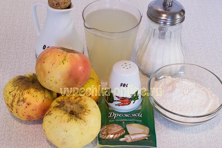 Постная выпечка с яблоками