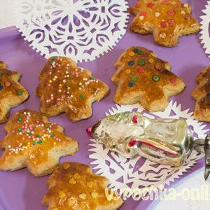 Творожное печенье простой быстрый рецепт в духовке новогодний/рождественский