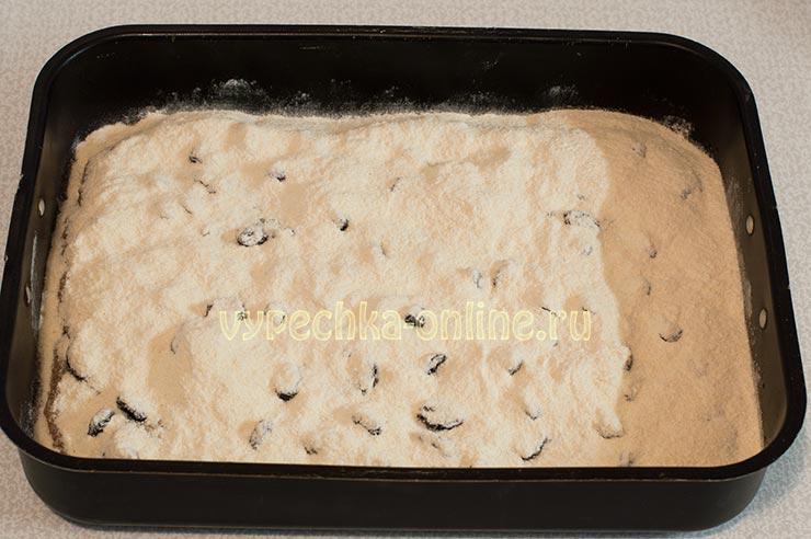Постный пирог с яблоками рецепт