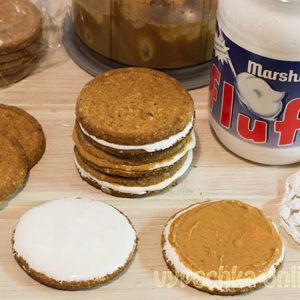 Десерт из печенья без выпечки с кремовым зефиром Marshmallow fluff (Маршмеллоу флафф)
