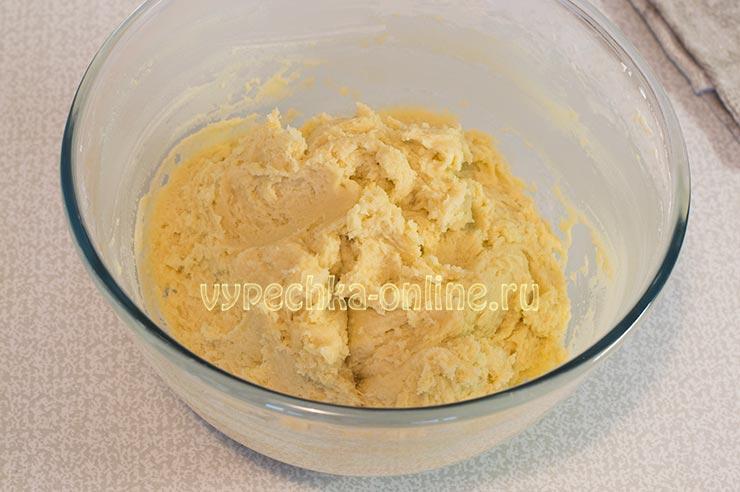 Песочное тесто на печенье курабье