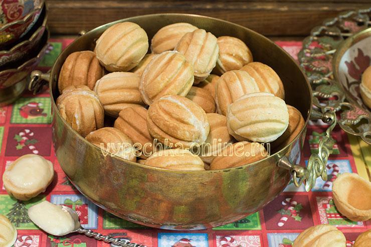 Печенье Орешки со сгущенкой рецепт как в детстве – как делать в орешнице, пошагово с фото