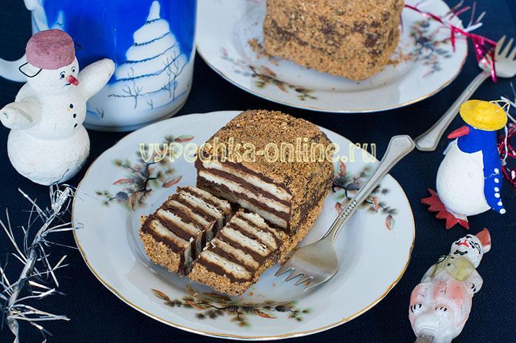 Десерт из печенья без выпечки