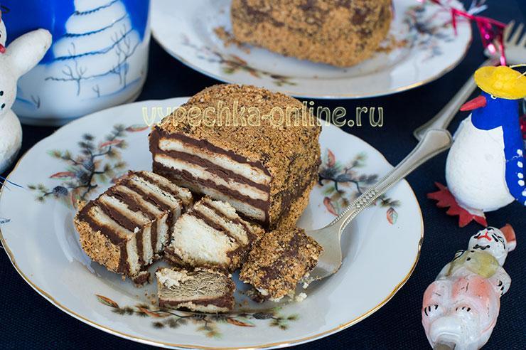 Пирожное из печенья без выпечки