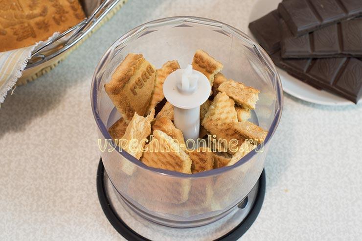 Рецепт сладкой колбаски из печенья