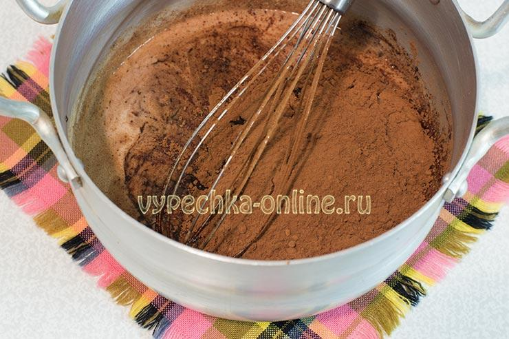 Сладкая колбаска из печенья и какао рецепт со сгущенкой