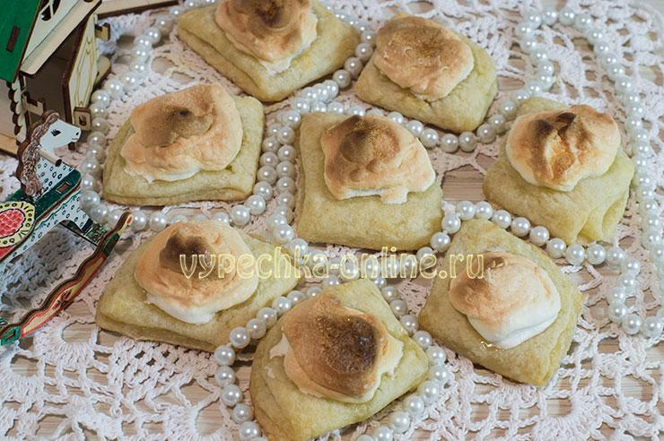 Творожное печенье треугольники с сахаром рецепт