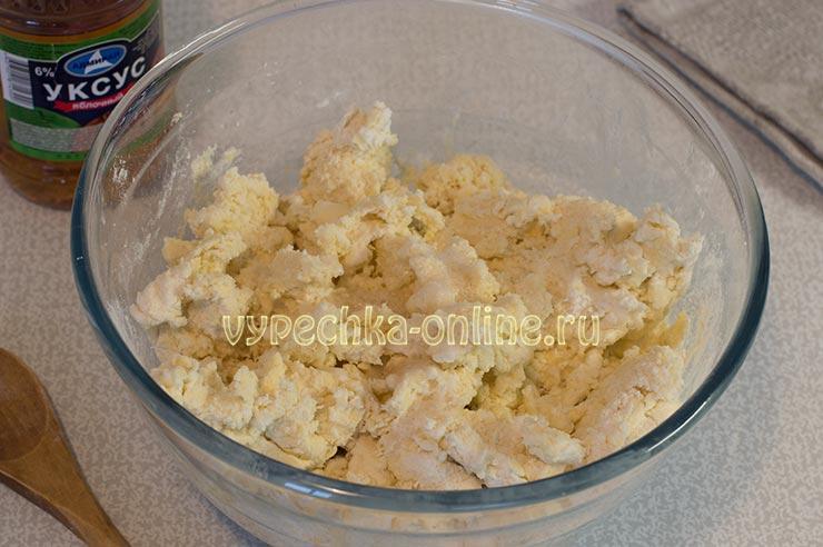 Творожное тесто на печенье
