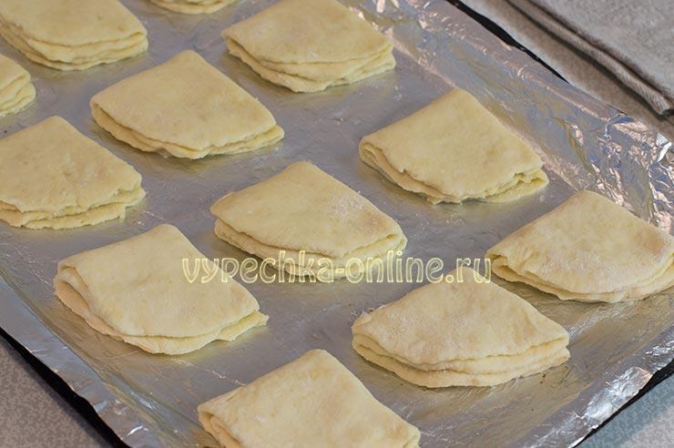 Творожное печенье треугольники с сахаром рецепт с фото