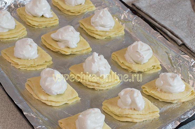 Печенье из творога треугольники с сахаром рецепт с фото