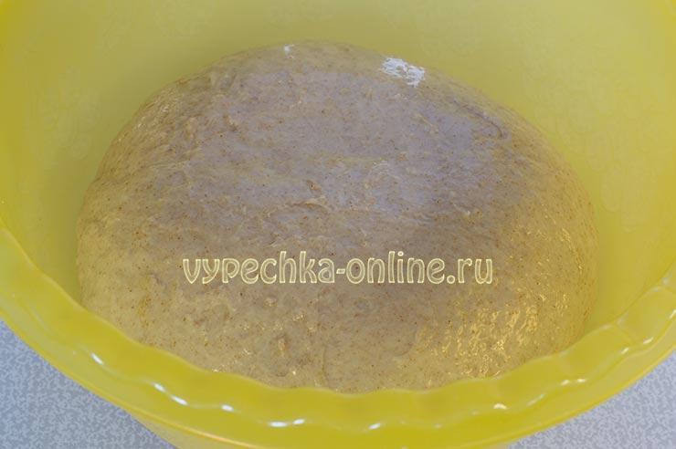 Тесто с цельнозерновой мукой для пирожков