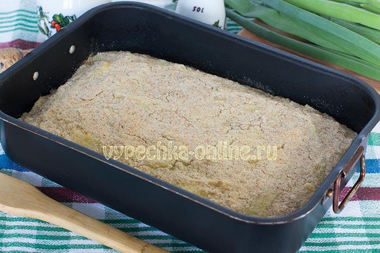 Запеканка из картофельного пюре с фаршем в духовке