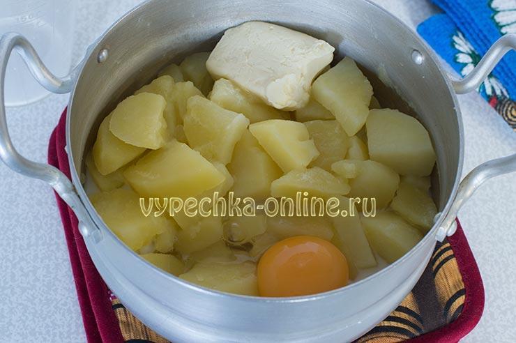 Картофель, яйцо, масло