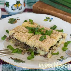 Картофельная запеканка с фаршем в духовке рецепт с фото пошагово (из пюре с мясом)