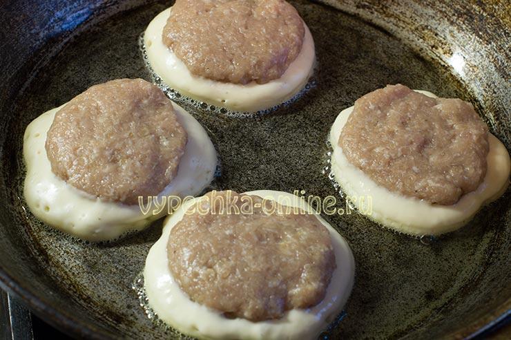 Тесто для ленивых беляшей с мясом на кефире