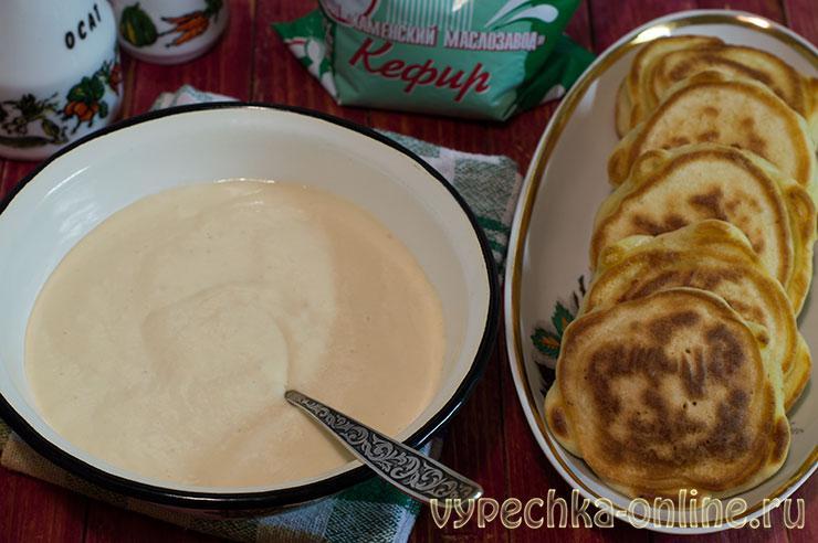 Тесто для беляшей на кефире без дрожжей на сковороде рецепт с фото пошагово