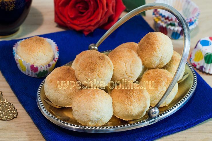Печенье Кокосанка в домашних условиях рецепт с фото из кокосовой стружки без муки