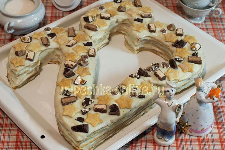 Медовый торт цифра рецепт