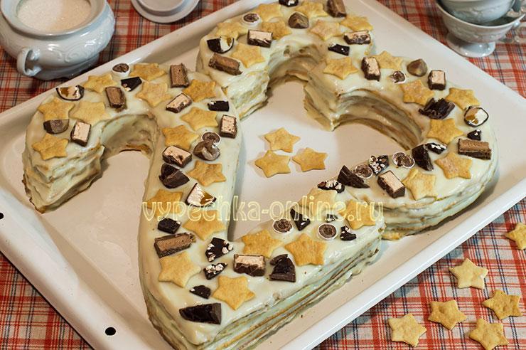 Торт на 23 февраля без мастики своими руками цифрами (медовый) – рецепт с фото пошагово