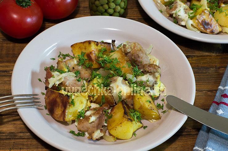 Свинина с картошкой в духовке рецепт с фото пошагово сочно и вкусно (как запечь)