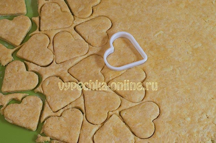 Печенье на день влюбленных несладкое