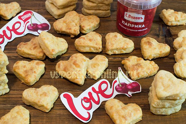 Печенье с сыром на кефире