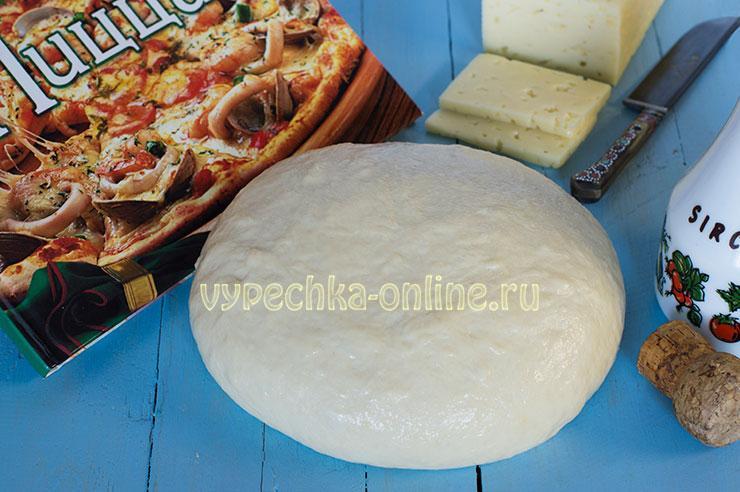 Тесто для пиццы на кефире с дрожжами рецепт с фото пошагово в духовке