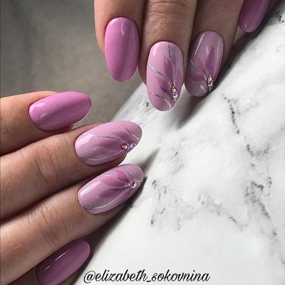 Весенний маникюр 2020 розовый