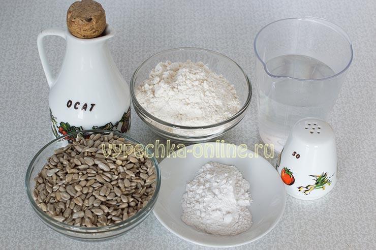 Постное печенье с семечками подсолнуха