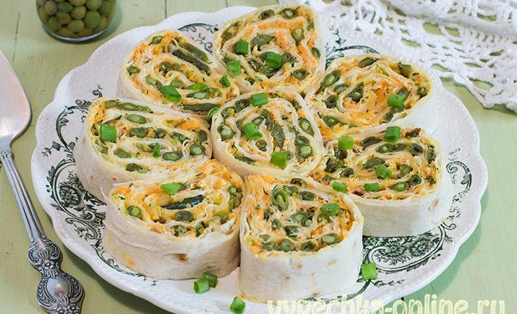 Постная начинка для лаваша в пост — рулет с овощами: рецепт с фото очень вкусный