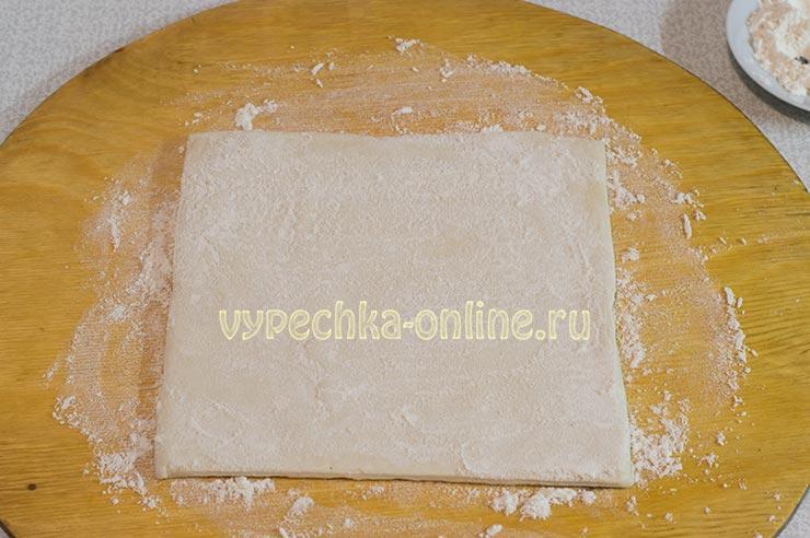 Слоеное тесто бездрожжевое