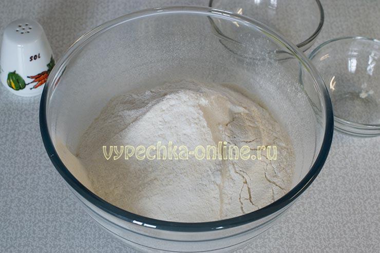 Мука пшеничная, рисовая, соль
