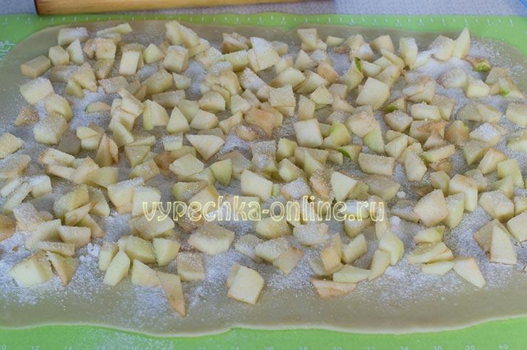 Постный штрудель с яблоками рецепт