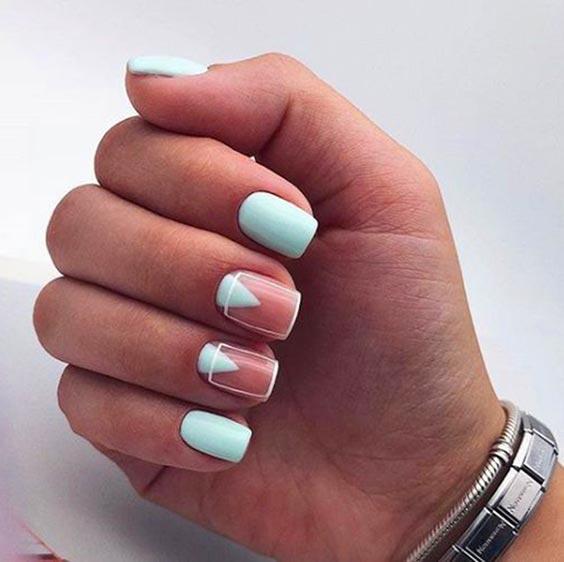 Голубые ногти дизайн фото