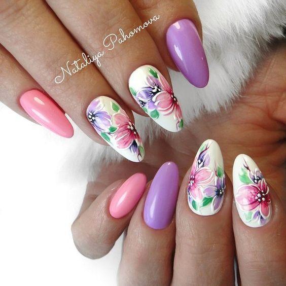 Ногти весна 2020 розовый