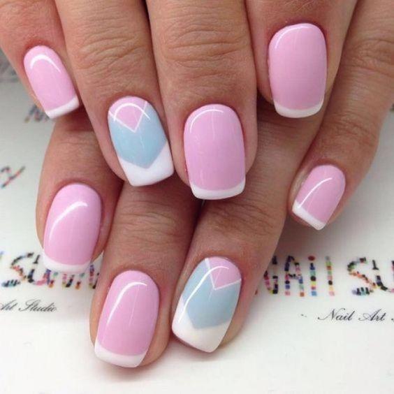 Розовый весенний маникюр 2020