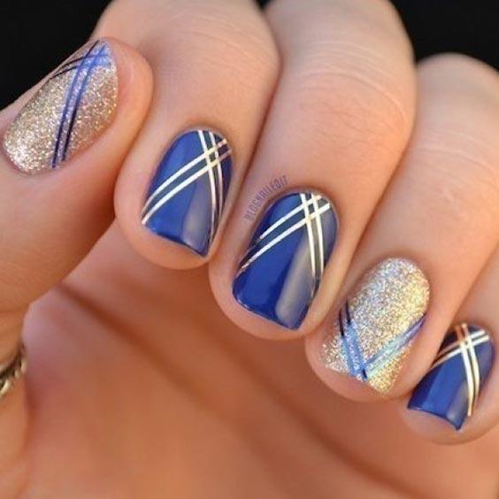 Ногти весна 2020 синий