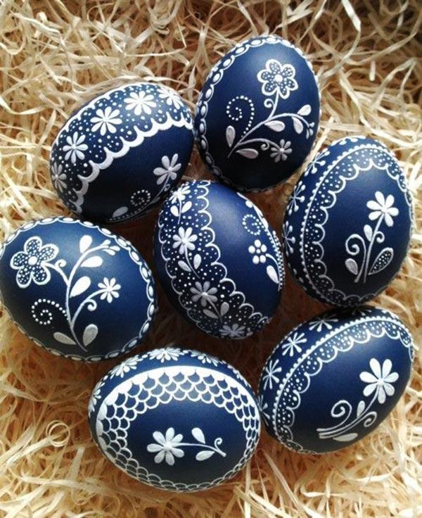 Рисунки на яйцах к Пасхе