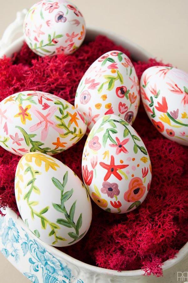 Роспись пасхальных яиц идеи