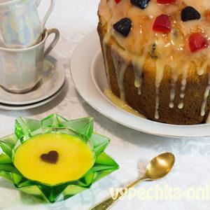 Глазурь для куличей из белого шоколада без яиц и без желатина – рецепт с фото