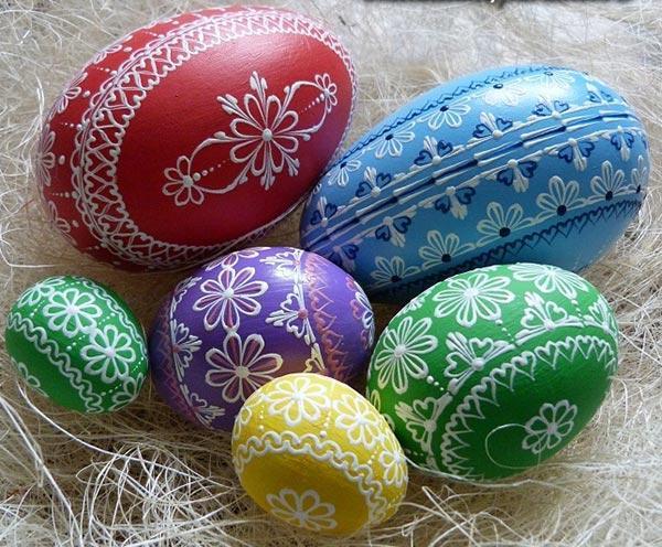 Рисунки на пасхальных яйцах своими руками