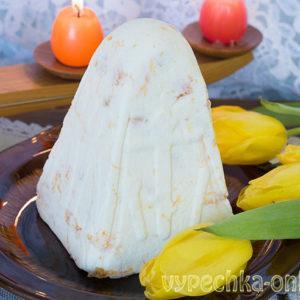 Творожная пасха со сливочным маслом и цедрой мандарина (без сметаны, без яиц) – рецепт с фото